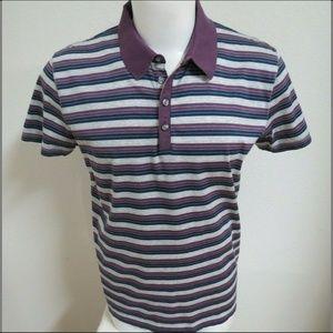 XL Purple/Gray Hugo Boss Slim Men Cotton #14U Polo
